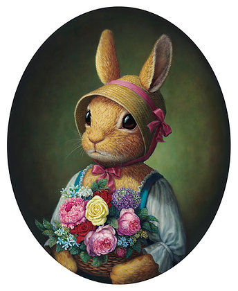 Rabbit With Bouquet