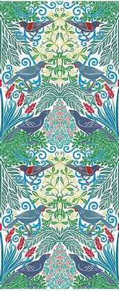 Wattle Bird Garden -Blue