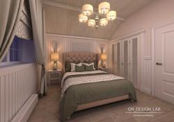 коттедж спальня