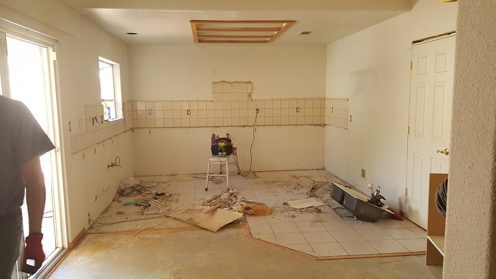 Kitchen remodel - During demolition