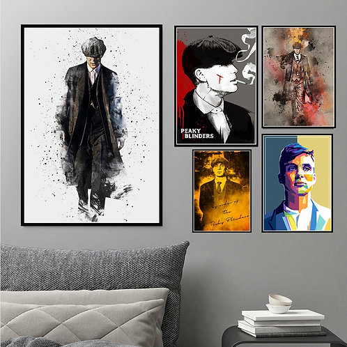 Peaky Blinders Cillian Murphy TV Show Art Poster Canvas Painting Wall ArtPosters