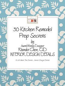 E-Book - 30 Kitchen Remodel Prep Secrets