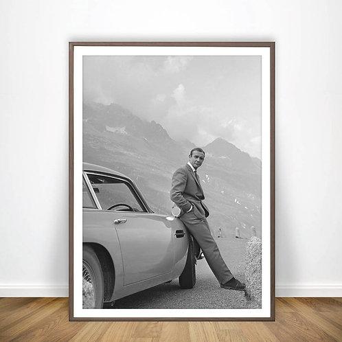 Spy Movie Poster Art Canvas Print Retro Movie Posters 007 Film Poster Wall Decor