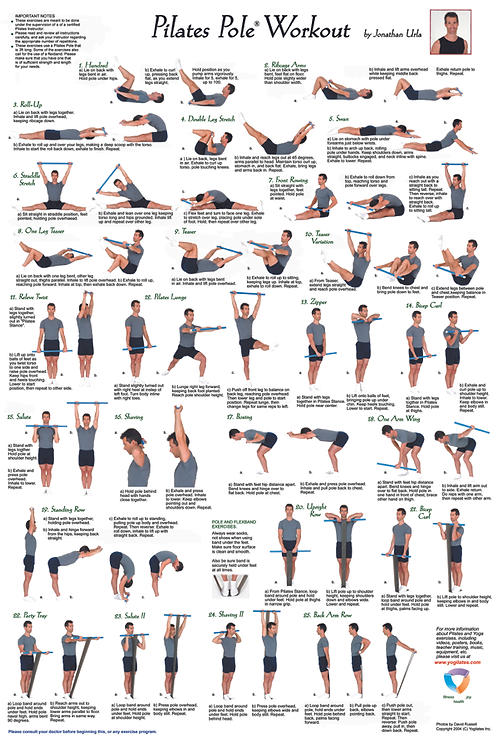 Pilates Pole Workout Poster
