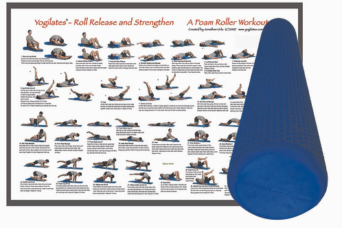 Deluxe Foam Roller with Foam Roller Workout Poster