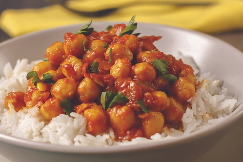 Curried Chick Peas and Vegetables