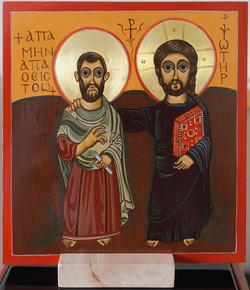 Christ et Menas, icone de l'amitié, cop