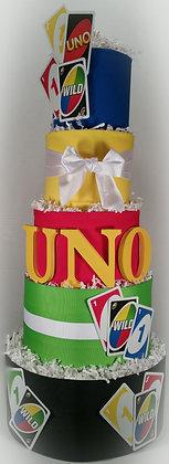 5 Tier UNO DIAPER CAKE