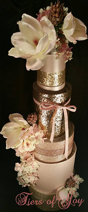 5 Tier Sparkling Champagne TOWEL CAKE
