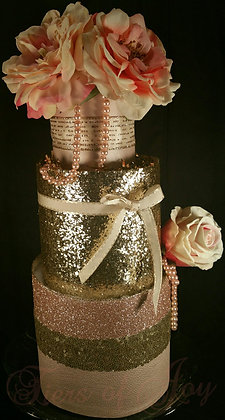 3 Tier Sparkling Champagne TOWEL CAKE