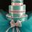 Thumbnail: 3 Tier White & Tiffany Blue Diaper Cake