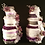 Thumbnail: 3 Tier White and Plum Towel Cake