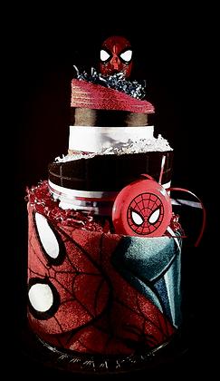 3 Tier Spider-Man Towel Cake