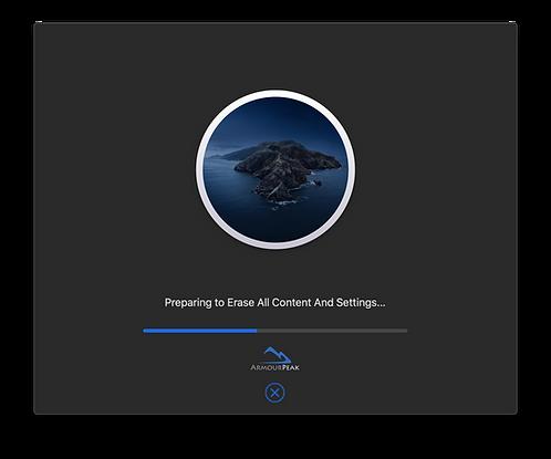 macOS 1-click erase