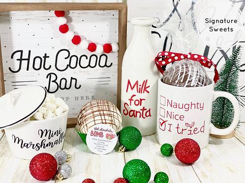 Christmas Mug and Cocoa Bomb Gift set