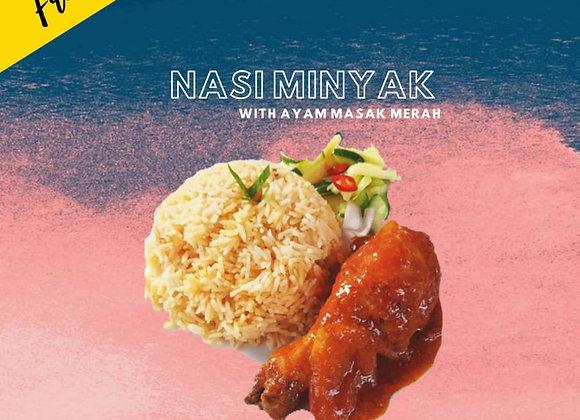 Nasi Minyak with Ayam Masak Merah