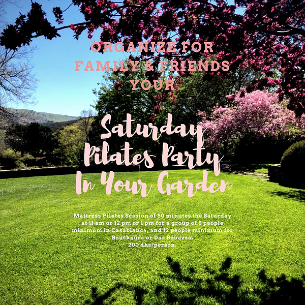 Saturday Pilates Party In Your Garden.PN