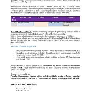 ODLUKE Registracione komisije 25. Dopuna