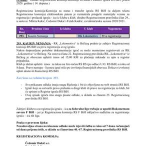 ODLUKE Registracione komisije 14. Dopuna