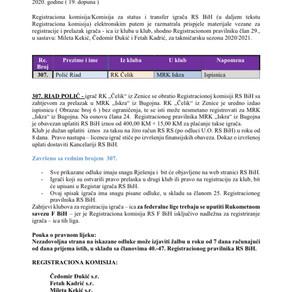 ODLUKE Registracione komisije 19. Dopuna