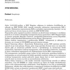 Saopštenje za javnost UO RSBiH