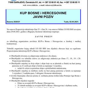 Javni poziv za organizaciju KUP-a BiH