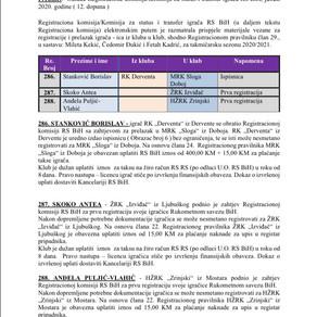 ODLUKE Registracione komisije 12. Dopuna