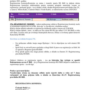 ODLUKE Registracione komisije 26. Dopuna