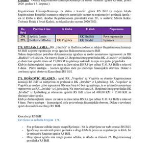 ODLUKE Registracione komisije 5. DOPUNA