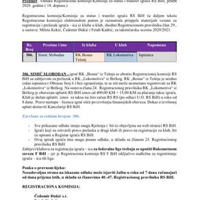 ODLUKE Registracione komisije 18. Dopuna