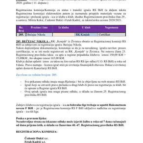 ODLUKE Registracione komisije 11. Dopuna