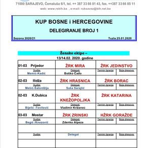 Nominacija službenih osoba  KUP-a BiH