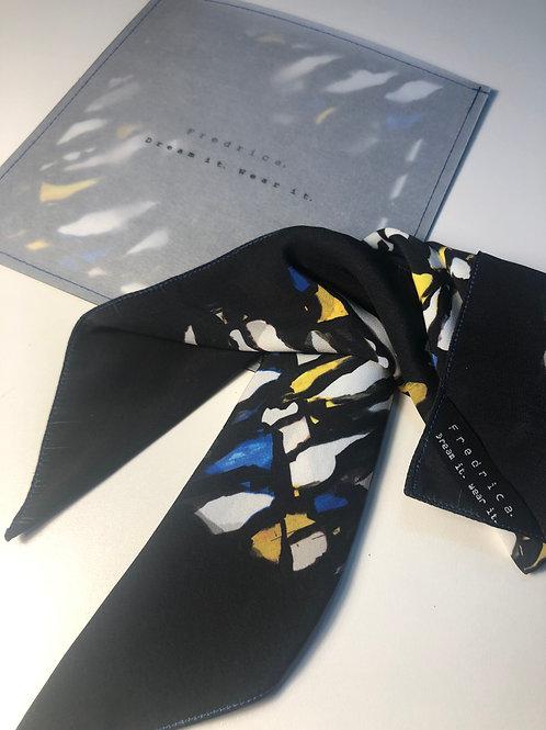 foulard blue macchiaioli