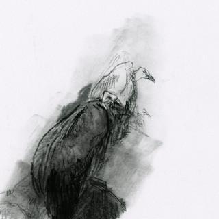 charcoal, pierre noire / 16,5x15cm / 2015