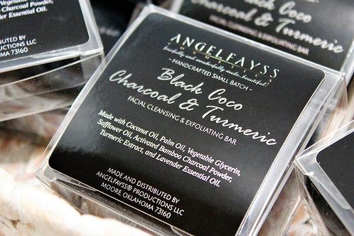 Black Coco Charcoal & Turmeric Facial Cleansing/Exfoliating Bar