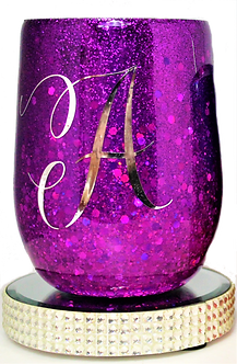 Glitter Confetti Stainless Steel Wine Tumbler
