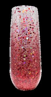 Gradient Glitter Confetti Stemless Champagne Flute