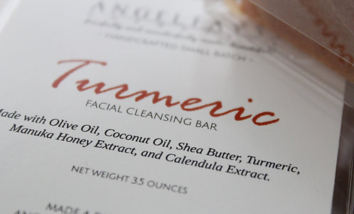 Turmeric Facial Cleansing Bar - Fragrance Free