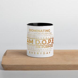 I AM D.O.P.E Mug with Color Inside