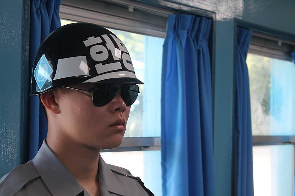 South Korean soldier at DMZ and JSA