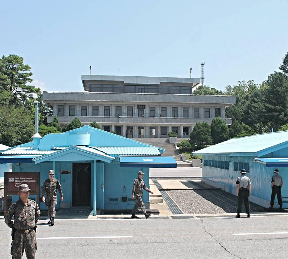 JSA DMZ blue buildings