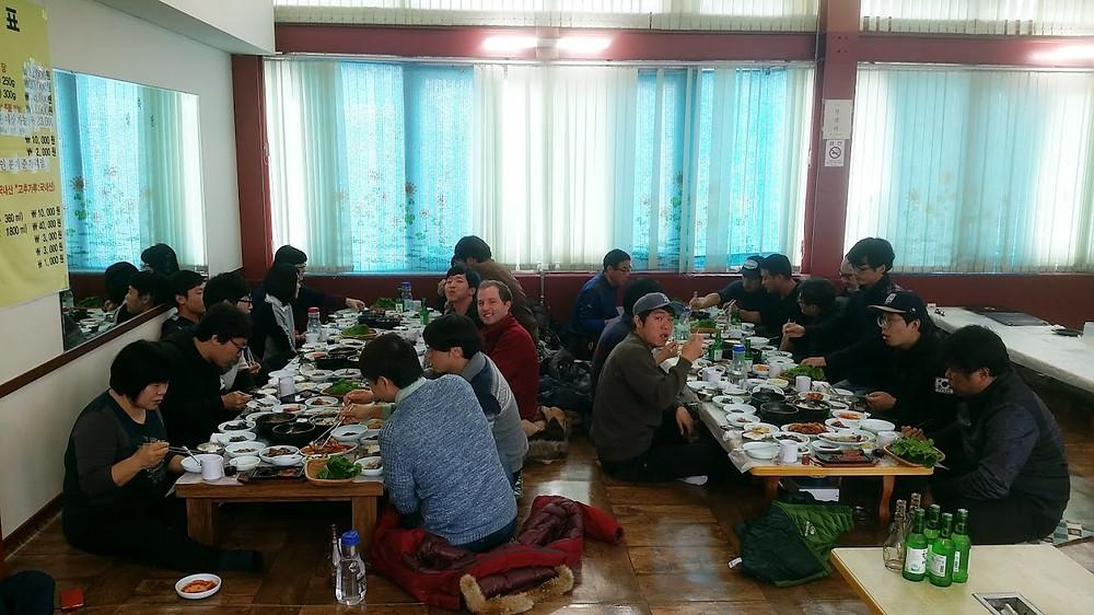 Teachers Lunch teaching English in South Korea