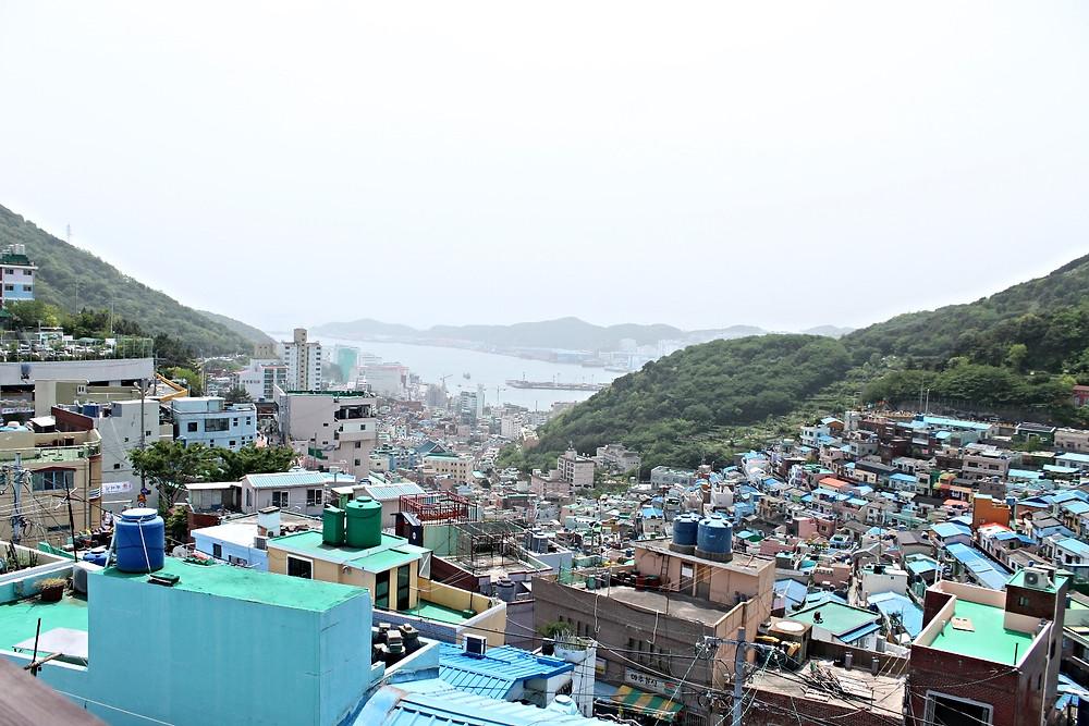 gamcheon cultural village busan four dirty feet