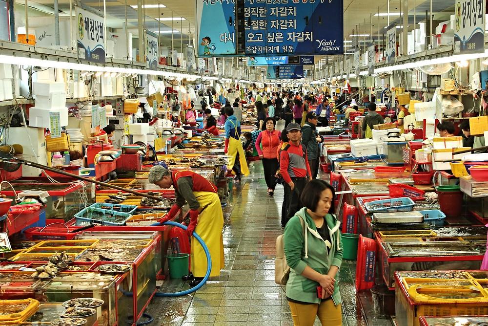 jagalzchi fish market busan four dirty feet