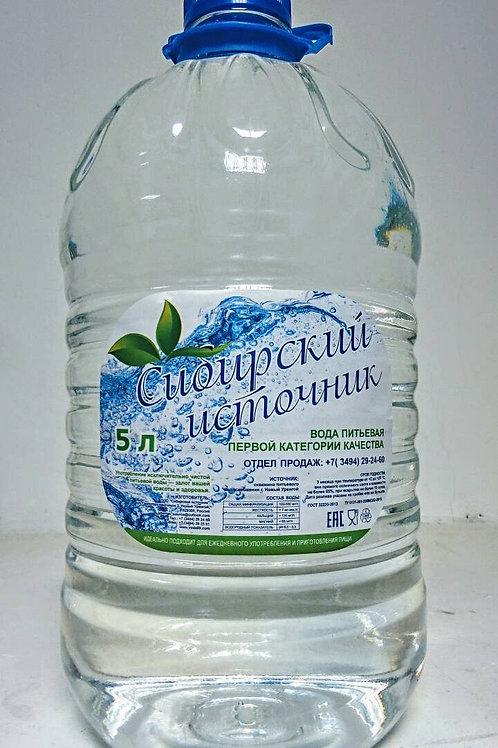 """Питьевая вода """"Сибирский источник"""" 5 л."""