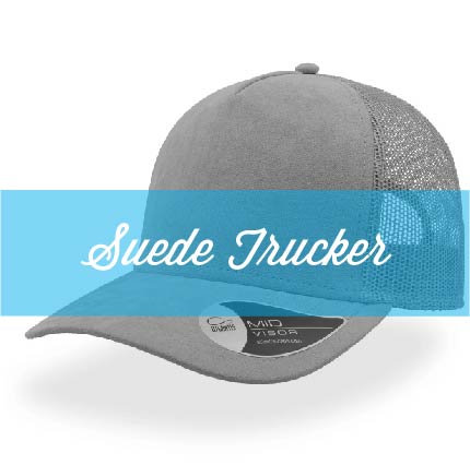 Suede 5 Panel Trucker Cap