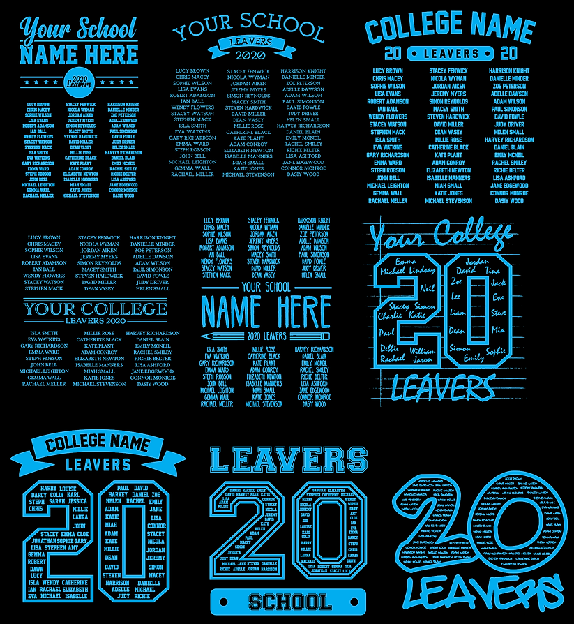 leavers jumpers & leavers hoodies printed