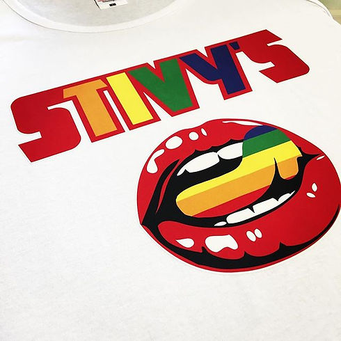 Super bright prints for Stivy's _#ink #print #screenprinting #embroidery #customgarments #relabellin