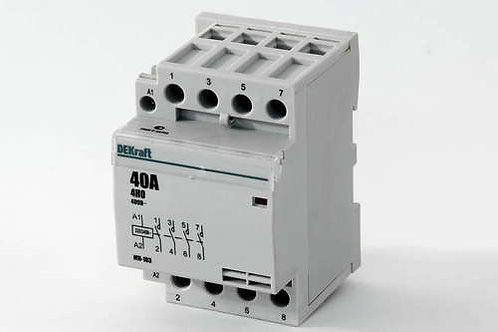 Модульный контактор DeKraft 4HО 40А