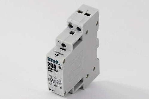 Модульный контактор DeKraft 1HO+1H3 20А